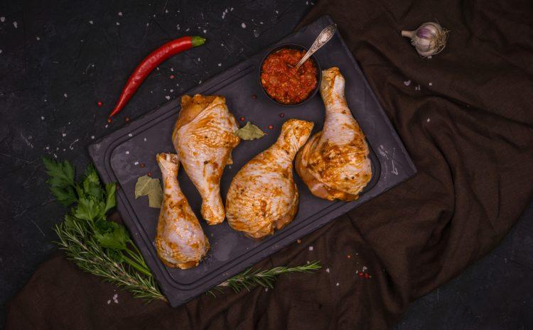 Pulpă de găină (gambă, în marinadă)